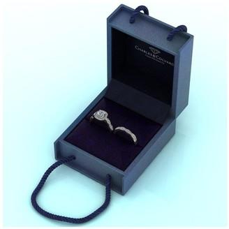 Moissanite 9ctGold 1.75ctEquivalent Total Cushion Cut Ring Set
