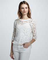 Abelle Lace-Crochet Sheer Top