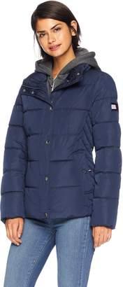 Tommy Hilfiger Women's Short Down Alternative Jacket with Zipout Fleece Hood