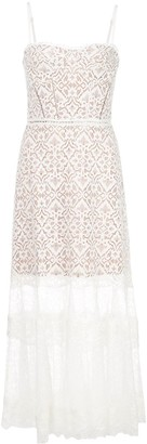 Jonathan Simkhai Lace Embroidered Flared Dress