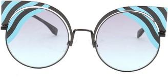 Fendi Hypnoshine Cat Eye Sunglasses Metal