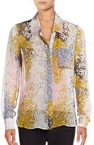 Diane Von Furstenberg Carter Silk Splash Blouse