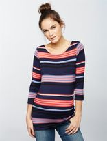 A Pea in the Pod Striped Boat Neck Maternity Tee