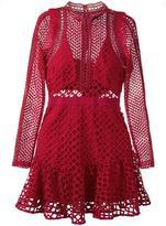 Self-Portrait Hall mini dress - women - Polyester/Spandex/Elastane - 8