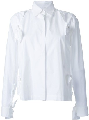 Roberts Wood bow detail split shirt