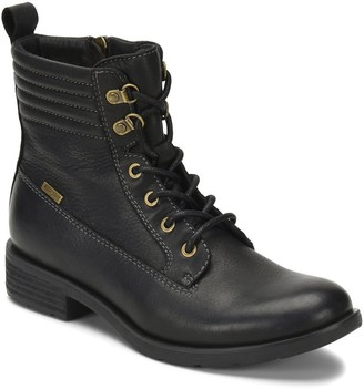 Sofft All-Weather Lace-Up Leather Combat Boots- Baxter