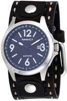 Nemesis DBDT251L Men's Signature Sapphire Collection Dial Wide Leather Band Watch