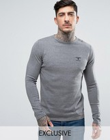 Barbour Jumper With Beacon Logo In Grey Marl