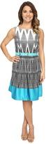 Tahari by Arthur S. Levine Petite Darryl-Q Belt Dress