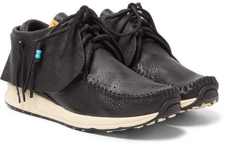 Visvim FBT Full-Grain Leather Sneakers - Men - Black