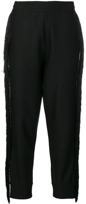Philipp Plein Fringed Trim Track Pants