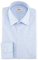 Neiman Marcus Large Check Dress Shirt, Blue/White