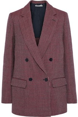 Stella McCartney Milly Double-breasted Houndstooth Wool Blazer