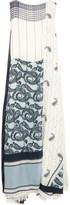 Acne Studios Dulcia Paisley Paneled Printed Voile Maxi Dress - Navy
