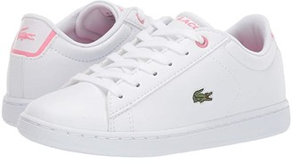 Lacoste Kids Carnaby Evo Bl 2 (Little Kid) (White/Pink) Kid's Shoes