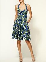 Halter Carolina Indigo Roses Print Dress