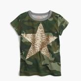 J.Crew Girls' sequin star camo T-shirt