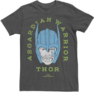 Marvel Men's Thor Ragnarok Asgardian Warrior Vintage Neon Graphic Tee