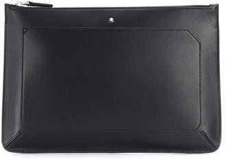 Montblanc logo plaque clutch