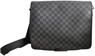 Louis Vuitton Daniel MM Satchel Black Cloth Bags