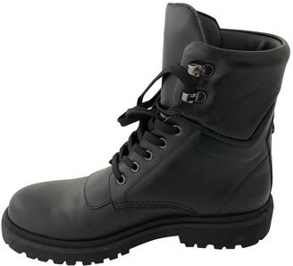 Moncler Black Leather Boots
