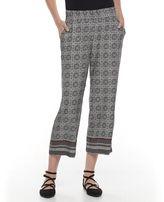 Dana Buchman Women's Print Challis Crop Pants