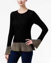 INC International Concepts Flounce-Hem Sweater, Only at Macy's