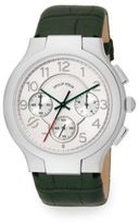 Philip Stein Teslar Round Chronograph Stainless Steel & Leather Strap Watch