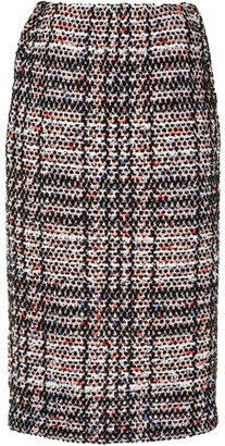 Coohem Vintage Check Tweed Skirt