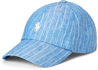 Ralph Lauren Striped Linen Ball Cap
