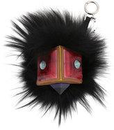 Fendi Prism Square Fur Monster Charm, Black