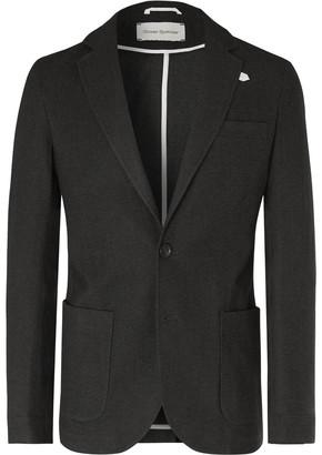 Oliver Spencer Dark-Green Theobald Unstructured Cotton And Wool-Blend Blazer