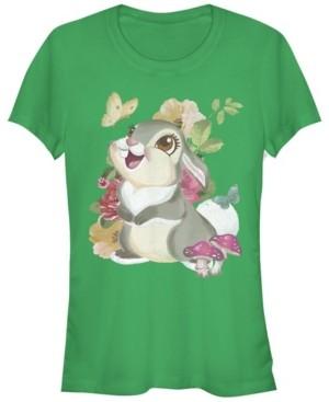 Fifth Sun Women's Bambi Thumper Vintage-Like Short Sleeve T-shirt