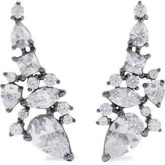 Noir Hematite-plated Crystal Ear Cuffs