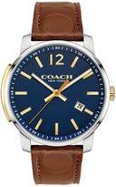 Coach 42mm Men's Bleecker Leather Watch