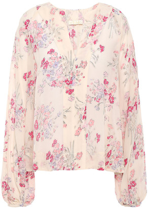 By Ti Mo Floral-print Crepe Blouse
