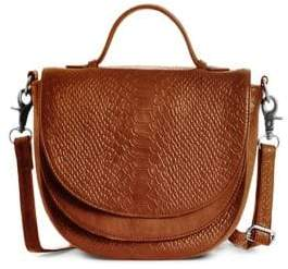 Day & Mood Brandi Croc-Embossed Leather Shoulder Bag