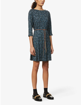 Sessun Selina floral-print jersey mini dress