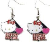 Hello Kitty Boston Red Sox Diamond Dangle Earrings Blue MLB Girls Womens Gift Jewelry S2