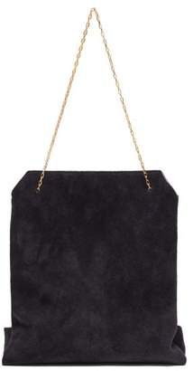 The Row Lunch Bag Small Suede Clutch - Womens - Navy