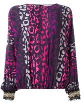 Amen leopard print blouse