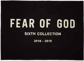 Fear Of God Black Chenille Embroidered Blanket