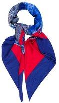 Hermes Selle D'Apparat Marocaine Cashmere Silk Shawl