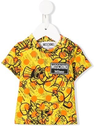 MOSCHINO BAMBINO short sleeve printed T-shirt