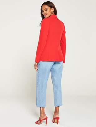 Very Tailored Single Button Blazer - Red