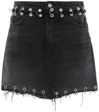GRLFRND The Milla embellished denim skirt