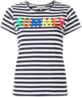 Yazbukey 'Summer' print striped T-shirt - women - Cotton - XS