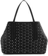 Jimmy Choo PIMLICO Black Leather Tote Bag with Gunmetal Stars