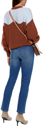 Current/Elliott The Zig-zag Morris Faded High-rise Skinny Jeans
