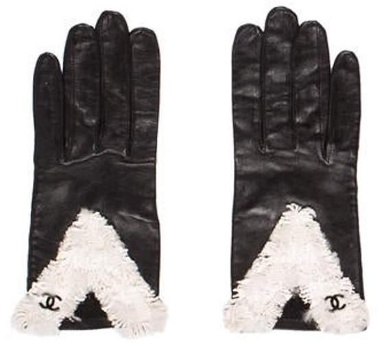 609eddb1b63 Lambskin CC Gloves Black Lambskin CC Gloves